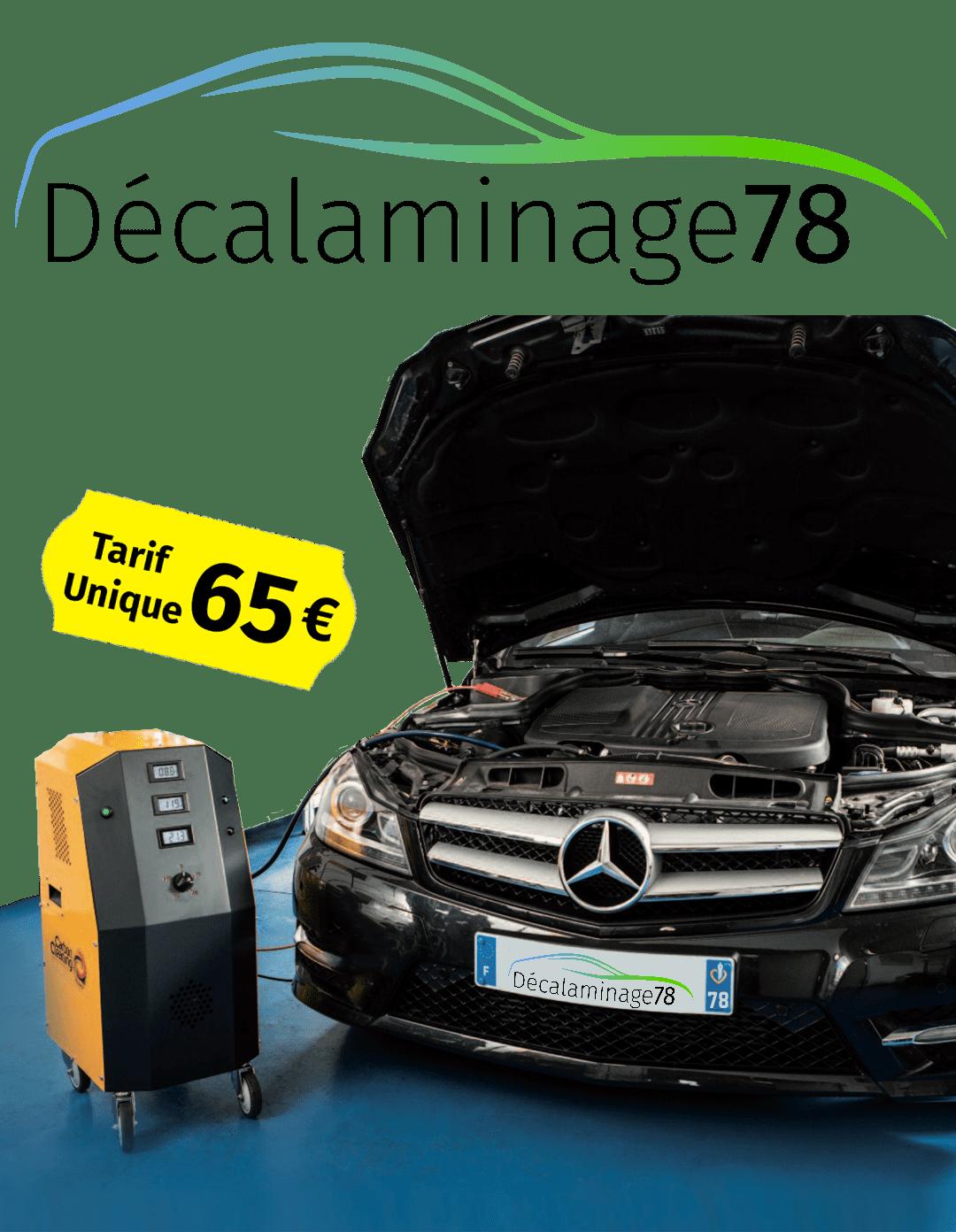 Prestation de décalaminage proposer par décalaminage78 pour un tarif unique de 65 €