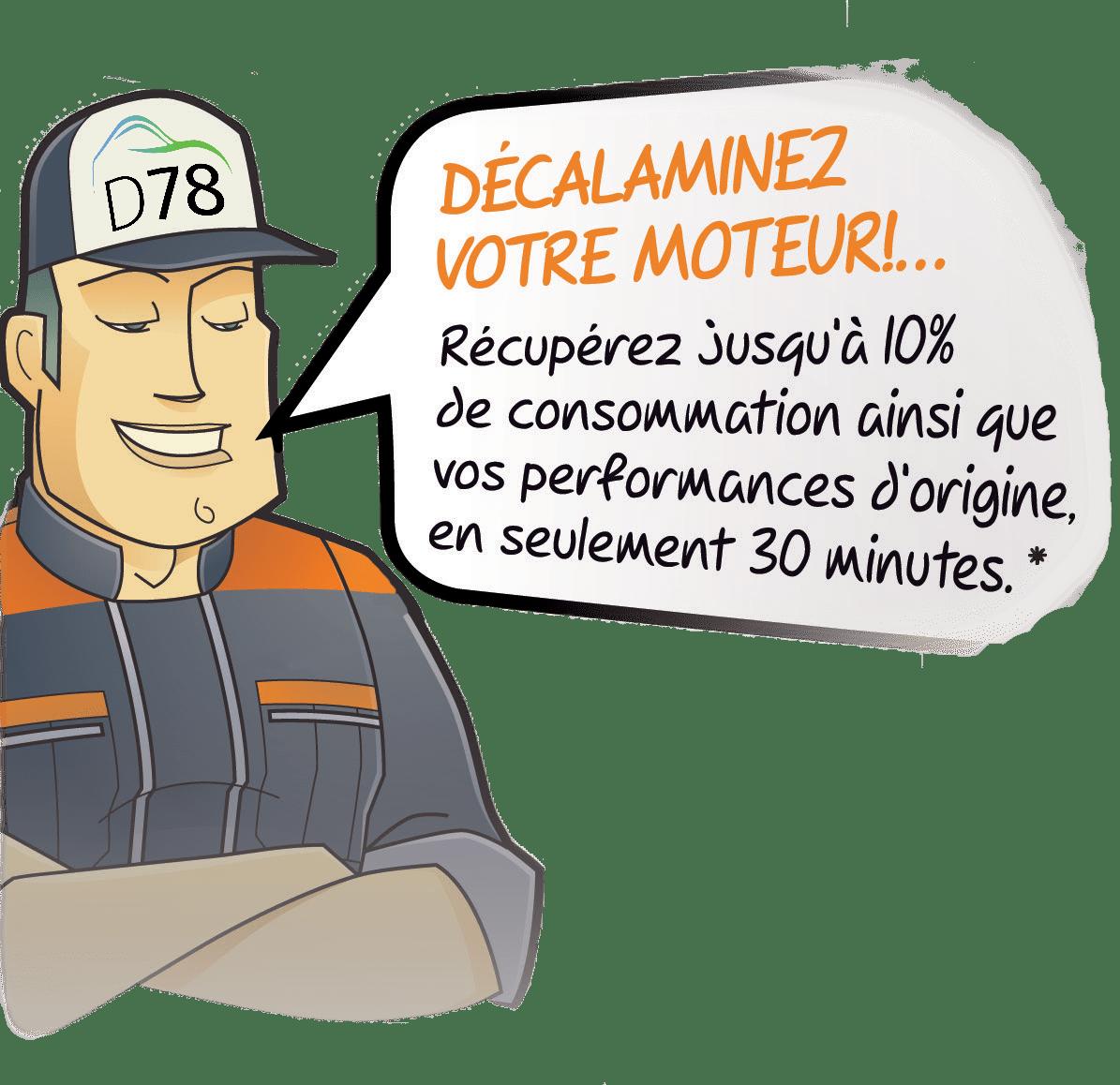Personnage pour le décalaminage moteur